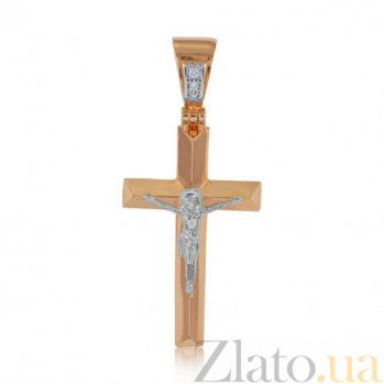 Золотой крестик Небеса EDM--КР7156