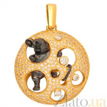 Золотой кулон с цирконием Мишель VLT--ТТ3318-7
