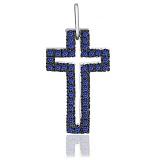 Серебряный крестик с фианитами Пасифик