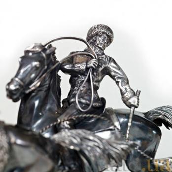 Серебряная композиция Псовая охота 795