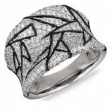 Кольцо Жанетта из белого золота с бриллиантами