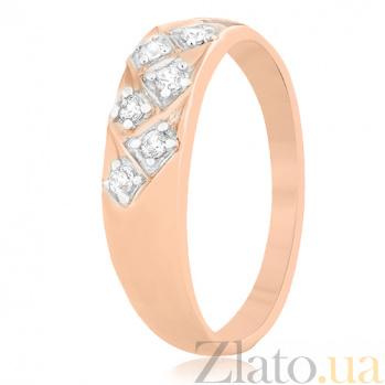 Серебряное кольцо с цирконием Элейн 000025624