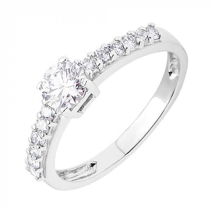 Золотое кольцо Erika в белом цвете с бриллиантами R0125/A03В01F02C01H02D02K08