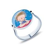 Серебряное кольцо с муранским стеклом Агния
