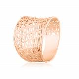 Серебряное кольцо с позолотой Бионика