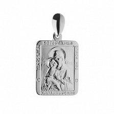 Серебряная ладанка Владимирская Пресвятая Богородица