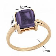 Кольцо в красном золоте Ингрид с аметистом