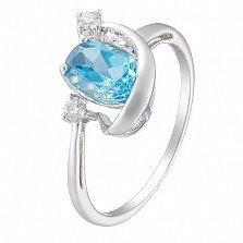 Золотое кольцо Мабелла с топазом и бриллиантом