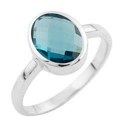 Кольцо из серебра с топазом лондон 000057376