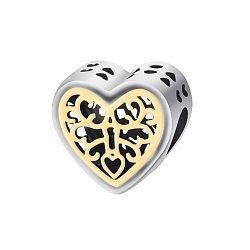 Серебряный подвес-шарм Сердце на замке 000043238