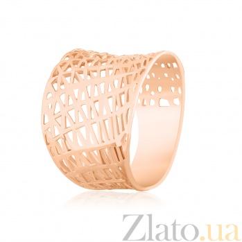 Серебряное кольцо с позолотой Бионика 000025453
