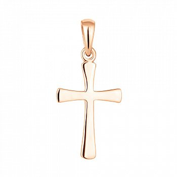 Золотой декоративный крестик 000071102