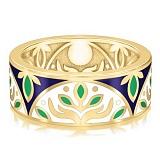 Золотое обручальное кольцо с эмалью Талисман: Веры