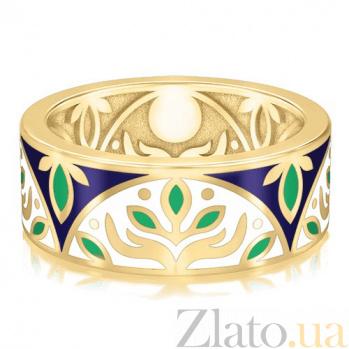 Золотое обручальное кольцо с эмалью Талисман: Веры 2914