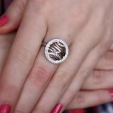Серебряное кольцо Эклектика с фианитами
