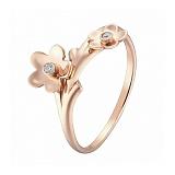 Кольцо в розовом золоте Торения с фианитами