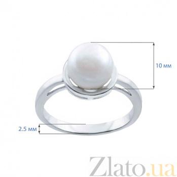 Серебряное кольцо с белым жемчугом София AQA--R01046PW