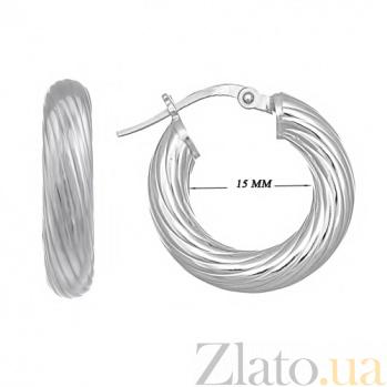 Серебряные серьги Леда 10030181