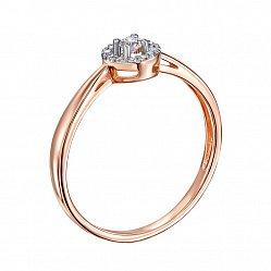 Помолвочное кольцо Арбери в красном цвете с бриллиантами