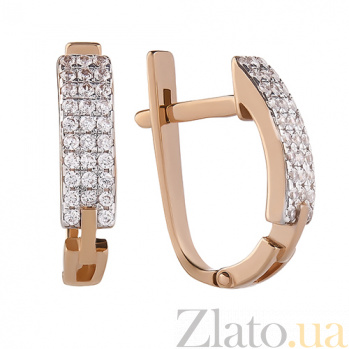 Золотые серьги Beauty SUF--110401