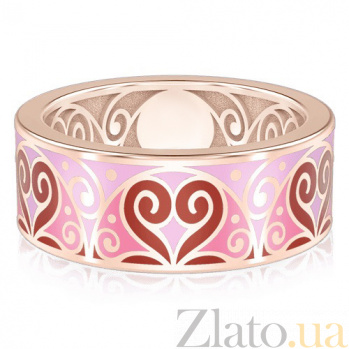 Обручальное кольцо из розового золота Талисман: Любви 1457