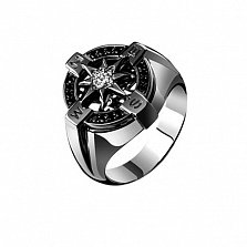 Мужское кольцо из золота с бриллиантами Ориентир