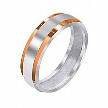 Серебряное кольцо Ромео с золотыми накладками