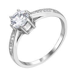 Серебряное кольцо с фианитами 000118364