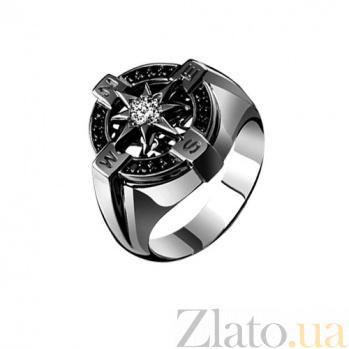 Мужское кольцо из золота с бриллиантами Ориентир KBL--К1639/бел/брил