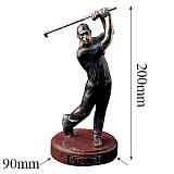 Бронзовая скульптура Игрок в гольф с позолотой на мраморной подставке