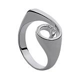 Серебряное кольцо с бриллиантами Shell