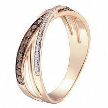Кольцо в красном золоте Мирра с фианитами