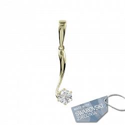 Золотой подвес с кристаллом Swarovski Алоисия