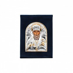 Икона Николай Чудотворец с серебрением 000122462