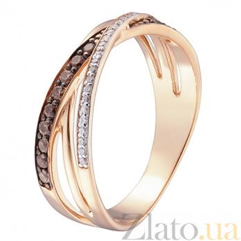 Кольцо в красном золоте Мирра с фианитами 000023295