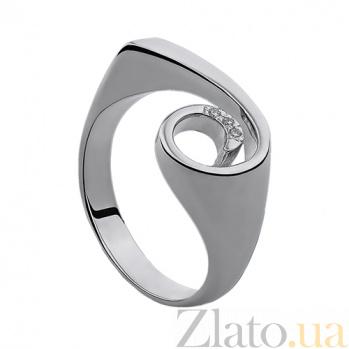 Серебряное кольцо с бриллиантами Shell 79101699