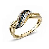 Кольцо из желтого золота Феличита с бриллиантами