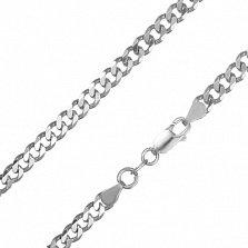 Серебряная цепь Арес с родированием, 4,5 мм, 70 см