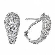 Серебряные серьги с кристаллами Swarovski Нимфа