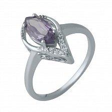 Серебряное кольцо Эрин с александритом и белыми фианитами