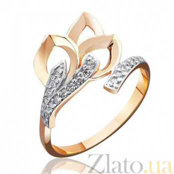 Золотое  кольцо Букет цветов EDM--КД0394