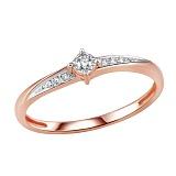 Кольцо из красного золота с бриллиантами Голди