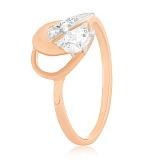 Позолоченное серебряное кольцо с фианитами Холли
