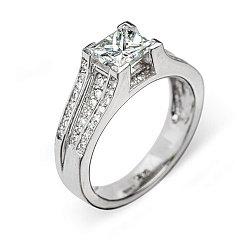 Кольцо из белого золота с бриллиантами 000006038