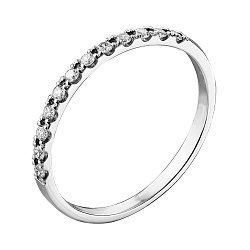 Кольцо из белого золота с бриллиантами и родированием 000132206