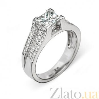 Кольцо из белого золота с бриллиантами Харриет R0156
