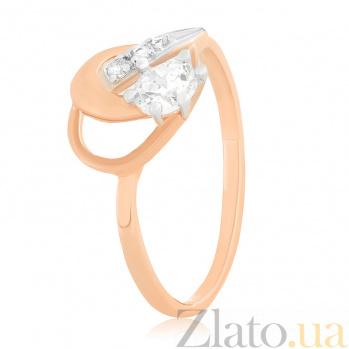 Позолоченное серебряное кольцо с фианитами Холли 000025612