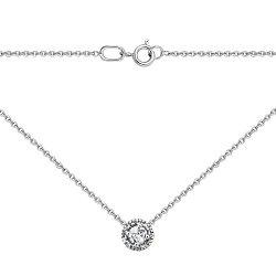 Колье из белого золота с бриллиантами 000127910