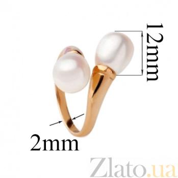 Золотое кольцо с жемчугом Прозерпина SG--11318301
