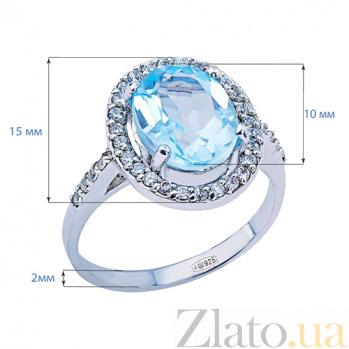 Кольцо из серебра с голубым топазом Джейна AQA--R01109T